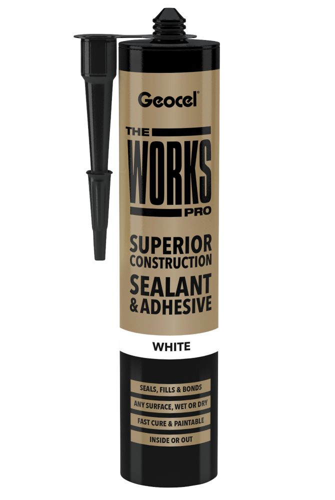Geocel The Works Pro Sealant and Adhesive White 290ml