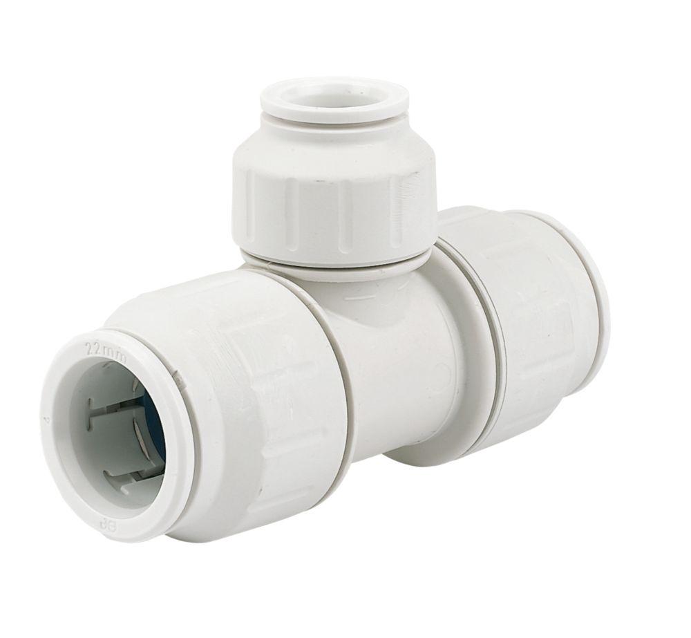 JG Speedfit  Plastic Push-Fit Reducing Tee 22 x 22 x 15mm