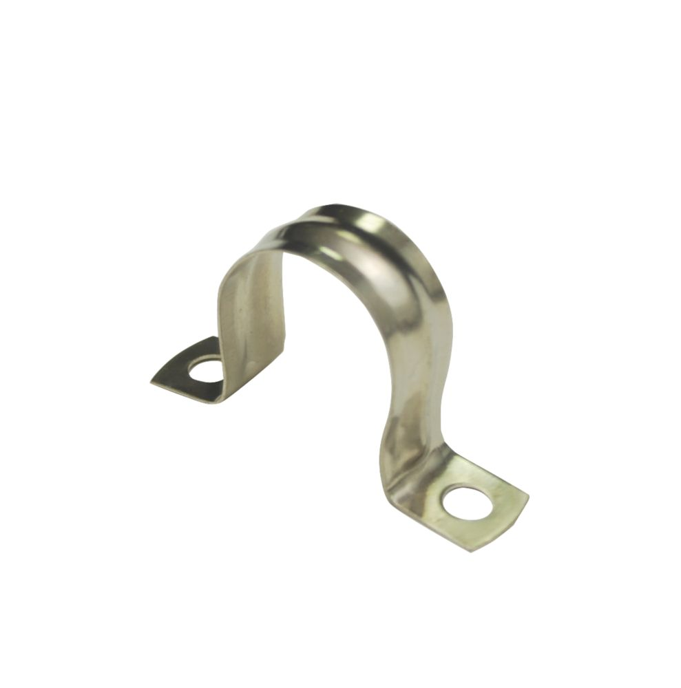 22mm Saddle Clips Chrome 10 Pack