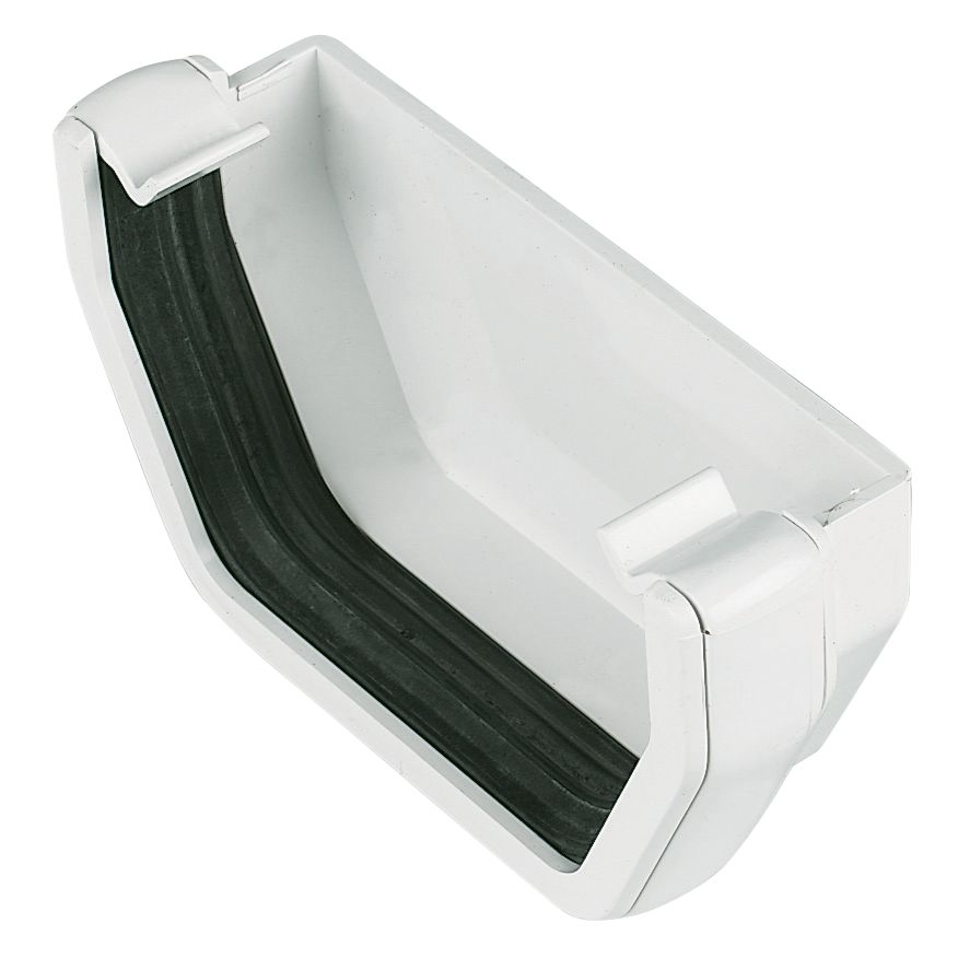 FloPlast Square Line External Stop End 114mm White