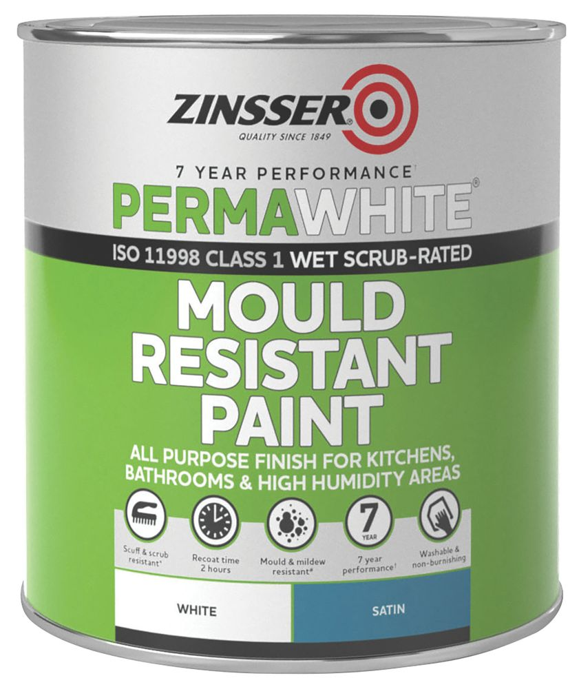 Zinsser Self-Priming Paint Satin White 1Ltr