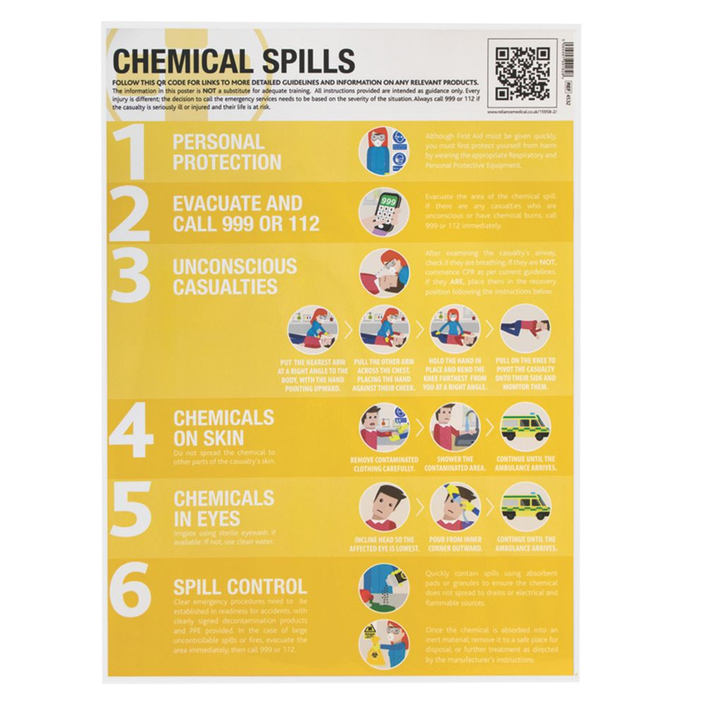 Chemical Spills Poster 594 x 420mm