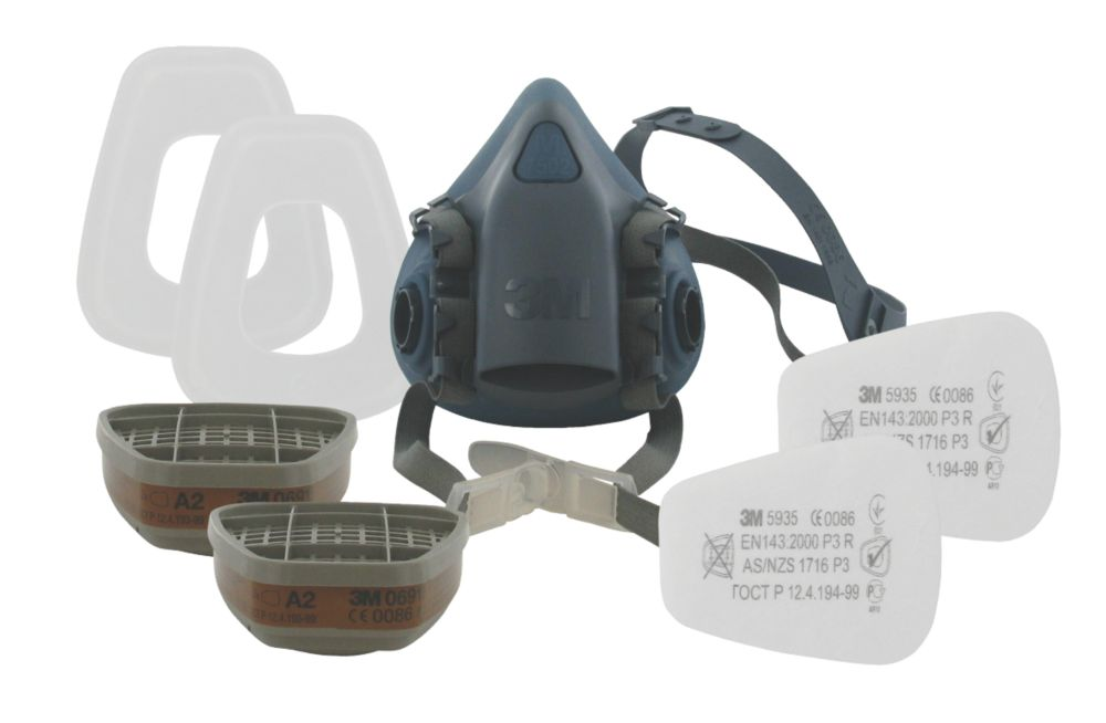 3M 7523 Half Mask Respirator & Filter Kit Medium A2-P3