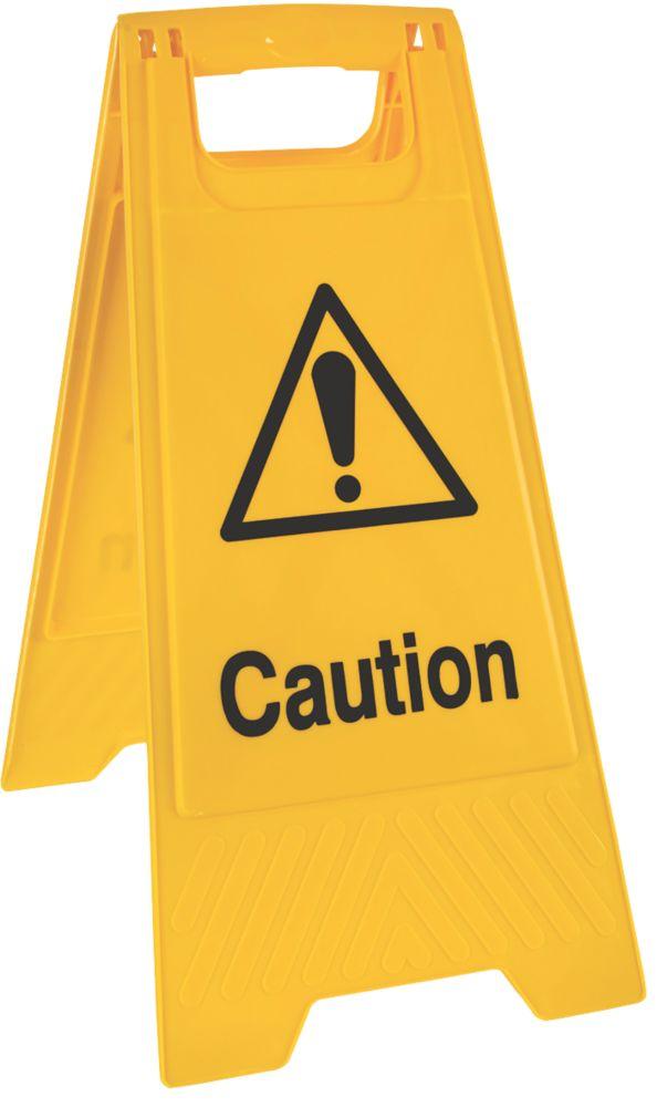 """Caution"" A-Frame Sign 600 x 300mm"