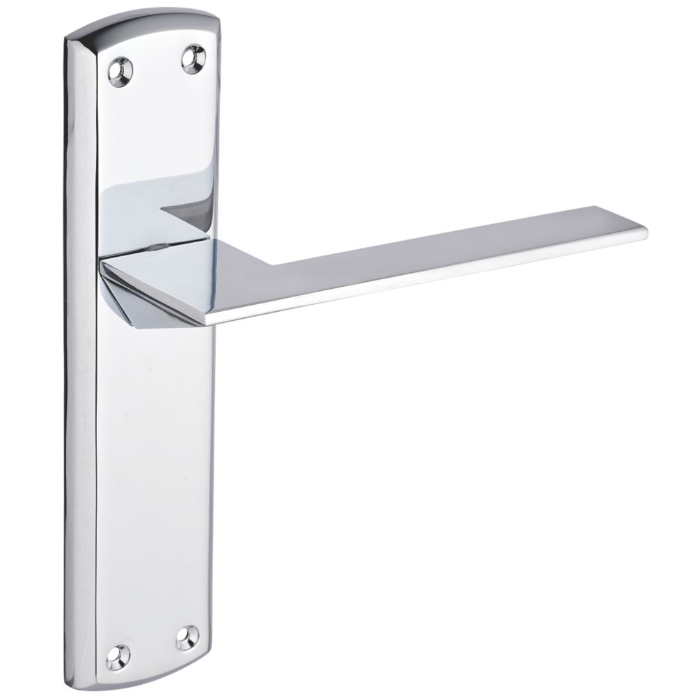 Smith & Locke Marloes Fire Rated Latch Lever Door Handles Pair Polished Chrome