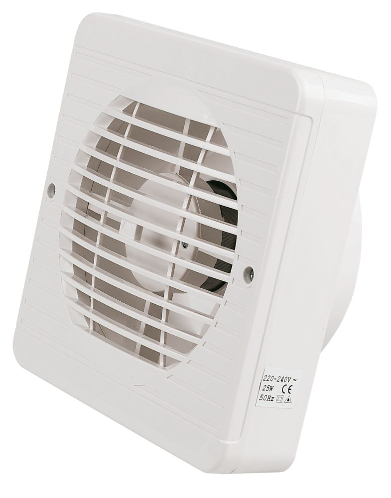 Manrose XF150BP 25W Kitchen Extractor Fan with Pullcord White 240V