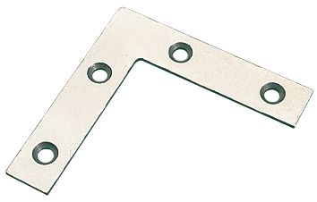 Angle Plates Zinc-Plated 76 x 76 x 16.5mm 10 Pack
