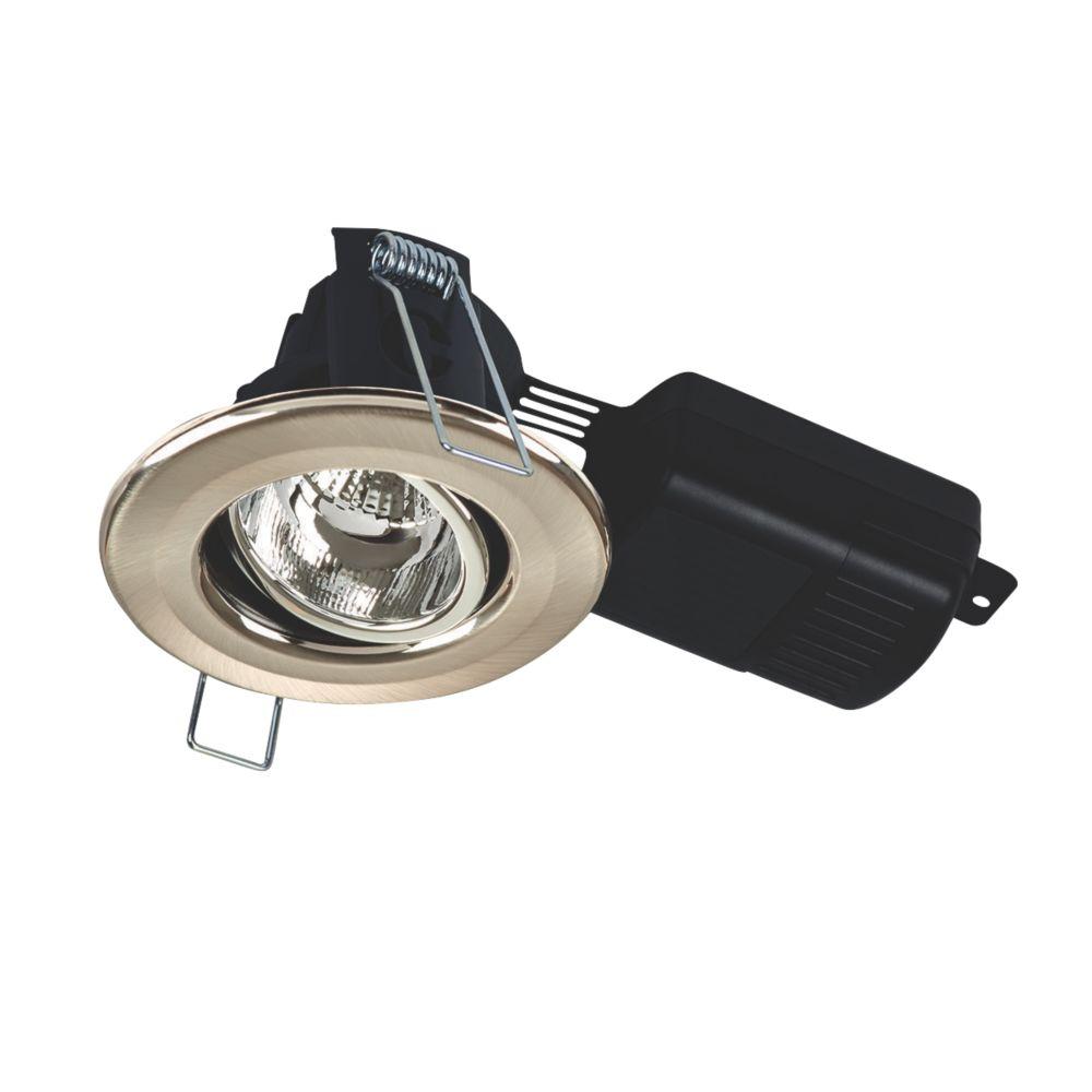 Collingwood H4 Adjustable  Fire Rated LED Downlight Brushed Steel 700lm 8.5W 220-240V