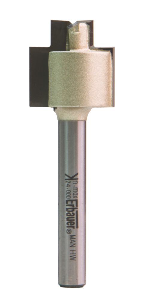 "Erbauer ¼"" Shank Stepped Rebater Router Cutter 19 x 19mm"