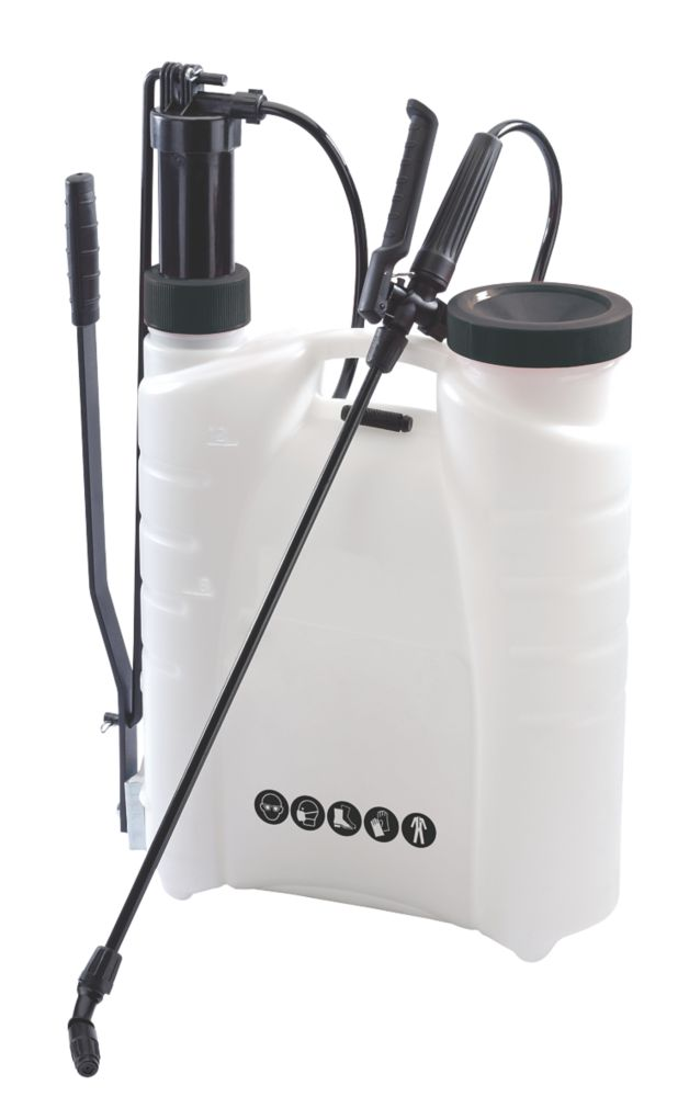 BS1 White Backpack Pressure Sprayer 12Ltr