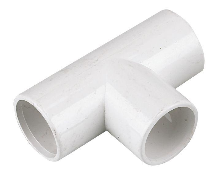 FloPlast Tees White 21.5mm 5 Pack