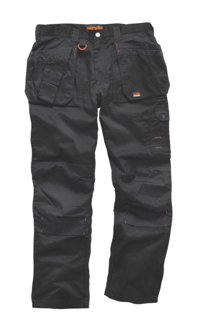 """Scruffs Worker Plus Work Trousers Black 32"""" W 33"""" L"""
