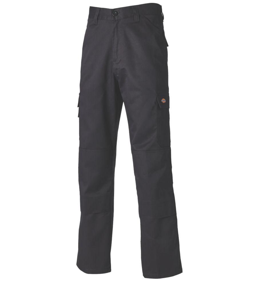 "Dickies Everyday Work Trousers Black 42"" W 31"" L"