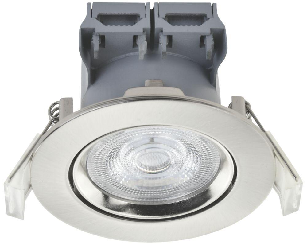 LAP  Adjustable  LED Downlight Brushed Nickel 370lm 5W 220-240V