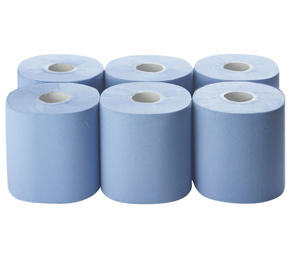 Paper Roll Blue 2-Ply 185 x 150m 6 Pack