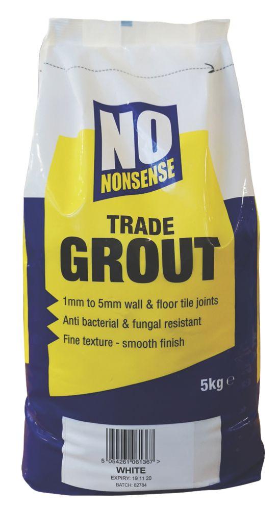 No Nonsense  No Mould Grout White 5kg