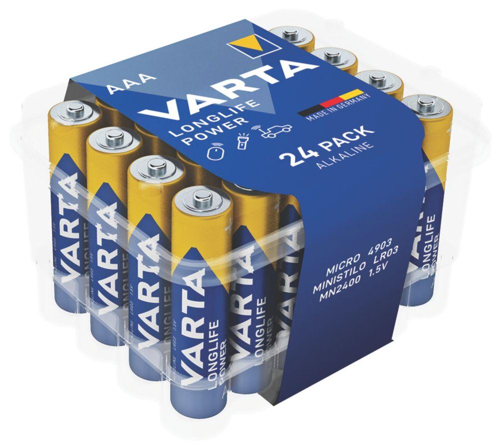 Varta Longlife Power AAA Batteries 24 Pack