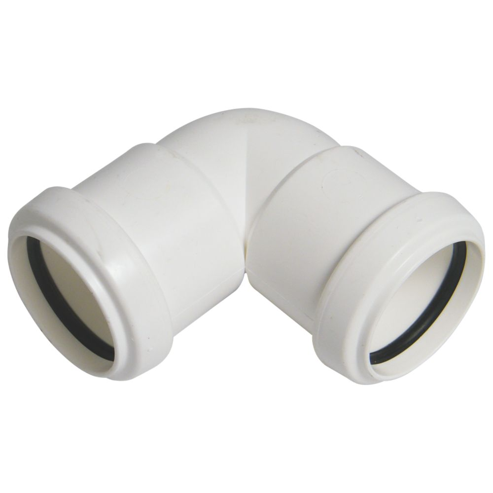 FloPlast Push-Fit Knuckle Bend White 90° 32mm