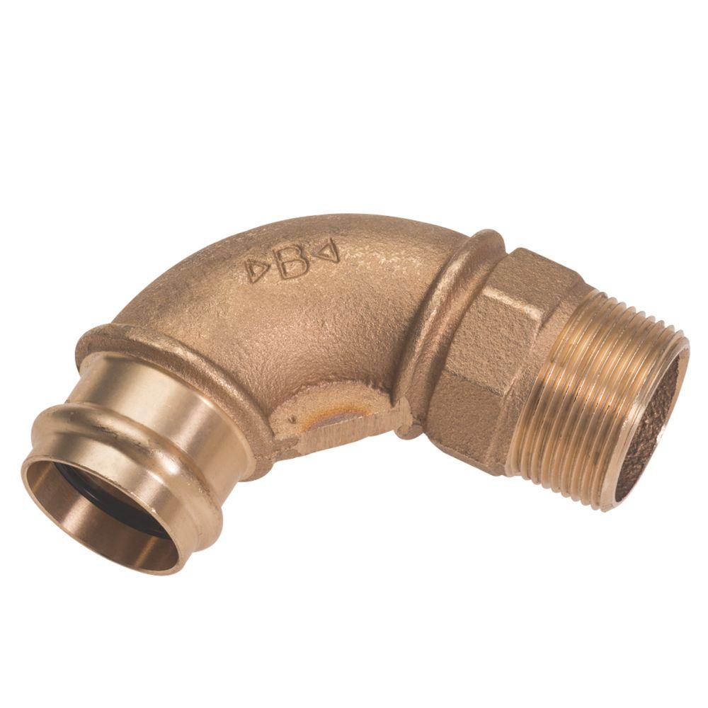 "Conex Banninger B Press  Copper Press-Fit Adapting 90° Male Elbow 22mm x ¾"" 5 Pack"