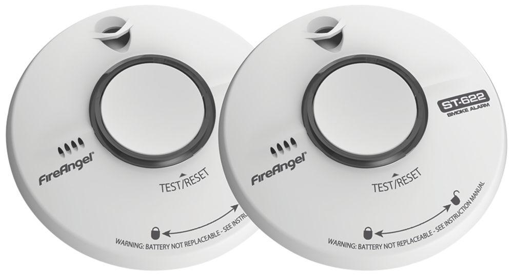 FireAngel TST-622Q Thermoptek Smoke Alarm 2 Pack