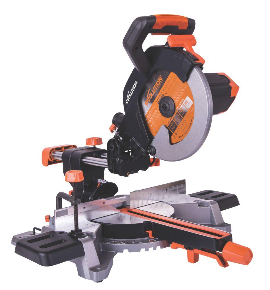 Evolution R255SMS 255mm  Electric Single-Bevel Sliding Mitre Saw 110V