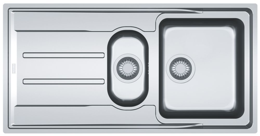 Franke Aton Sink Stainless Steel 1.5 Bowl 1004 x 514mm