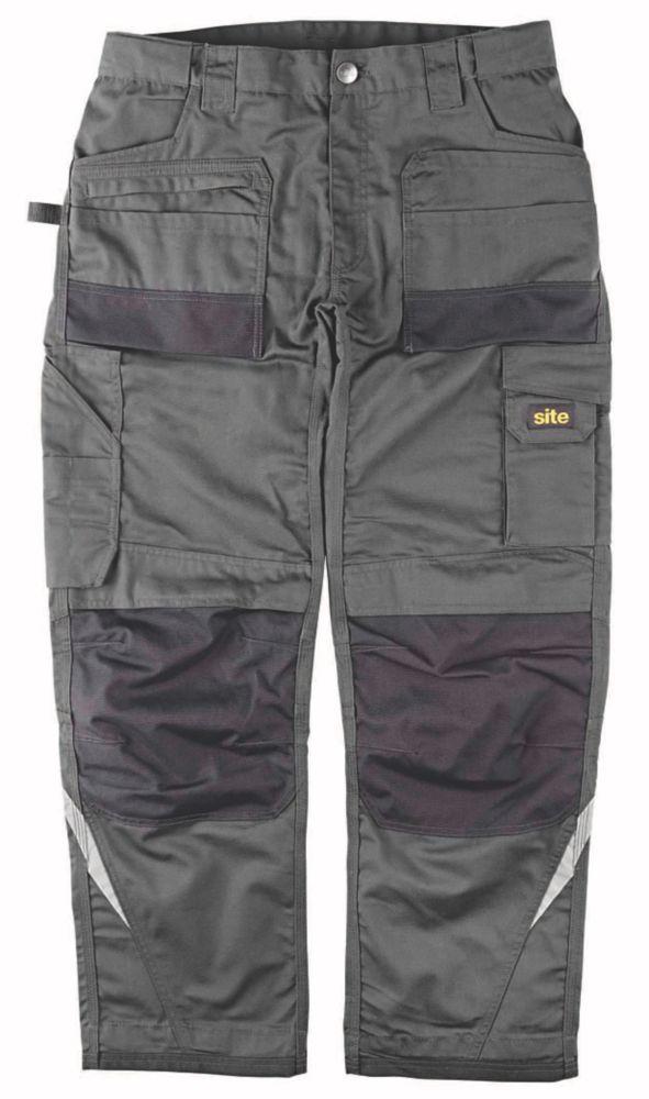 "Site Himalaya Work Trousers Grey 40"" W 32/34"" L"
