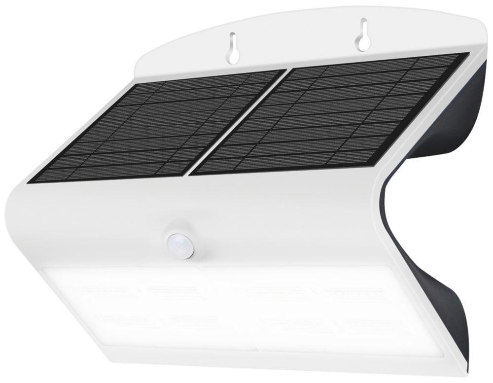 Luceco  LED Solar Wall Light With PIR Sensor White