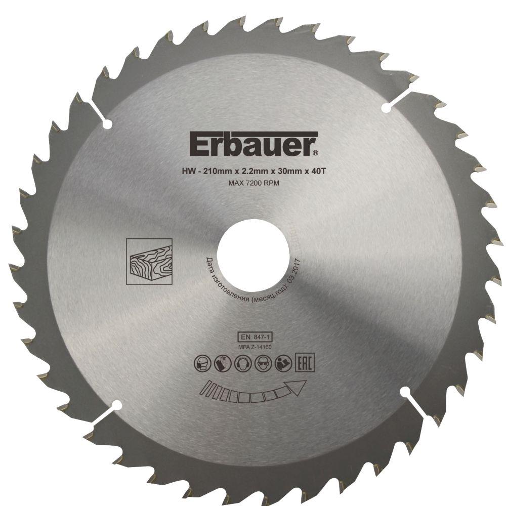 Erbauer TCT Saw Blade 210 x 30mm 40T