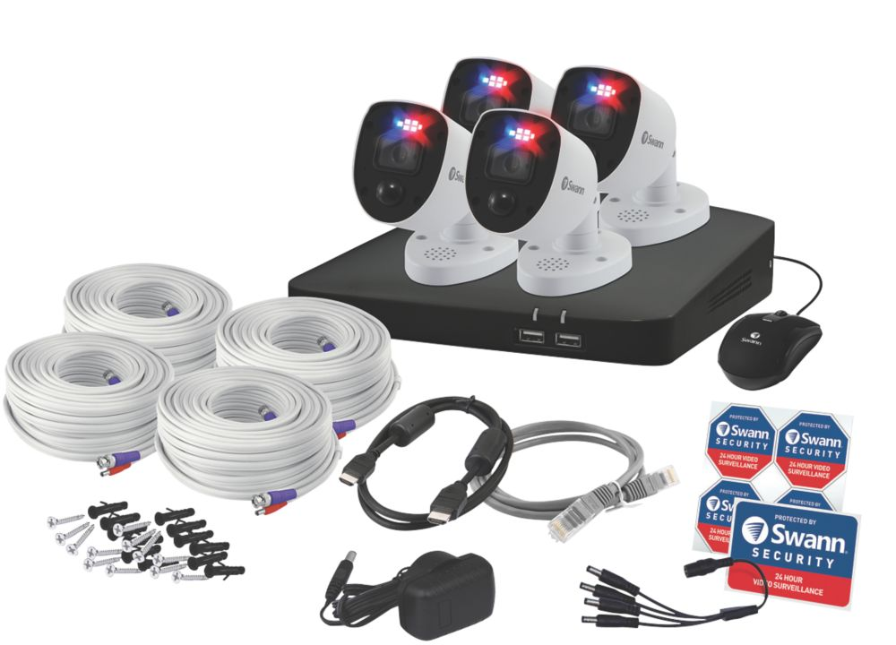 Swann SWDVK-856804-RL 8-Channel CCTV DVR Kit & 4 Cameras