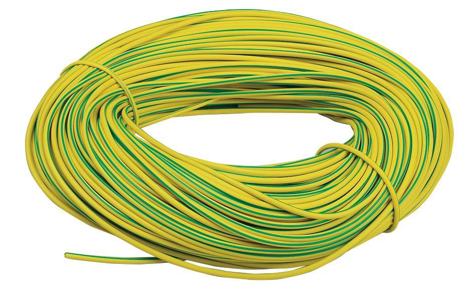 PVC Sleeving 3mm x 100m Green/Yellow