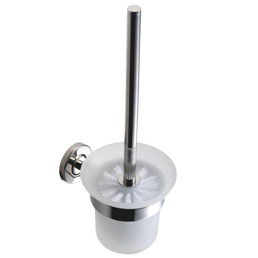 Franke Medius Stainless Steel & Glass Toilet Brush Holder Chrome