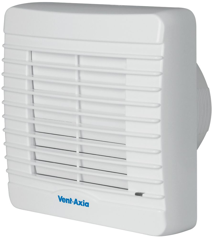 Vent-Axia VA100XHT 21W Bathroom Extractor Fan with Humidistat & Timer White  240V