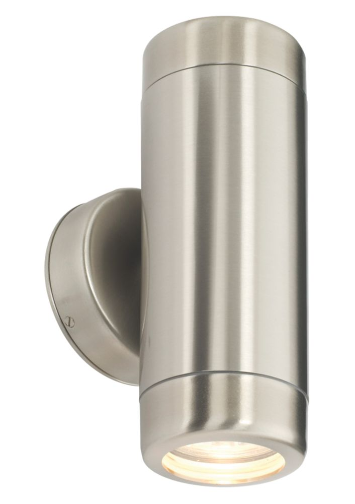 35W Brushed Stainless Steel Barracuda Up & Down Wall Light