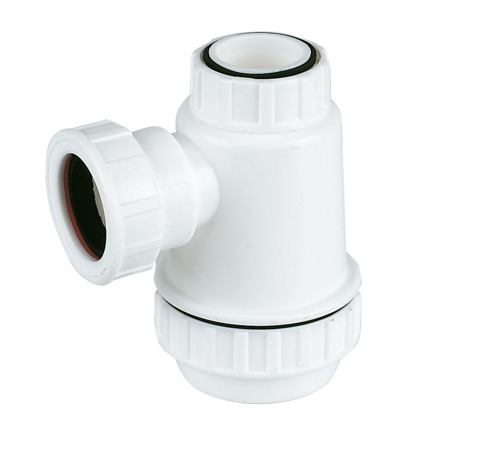 FloPlast Shallow Bottle Trap White 40mm