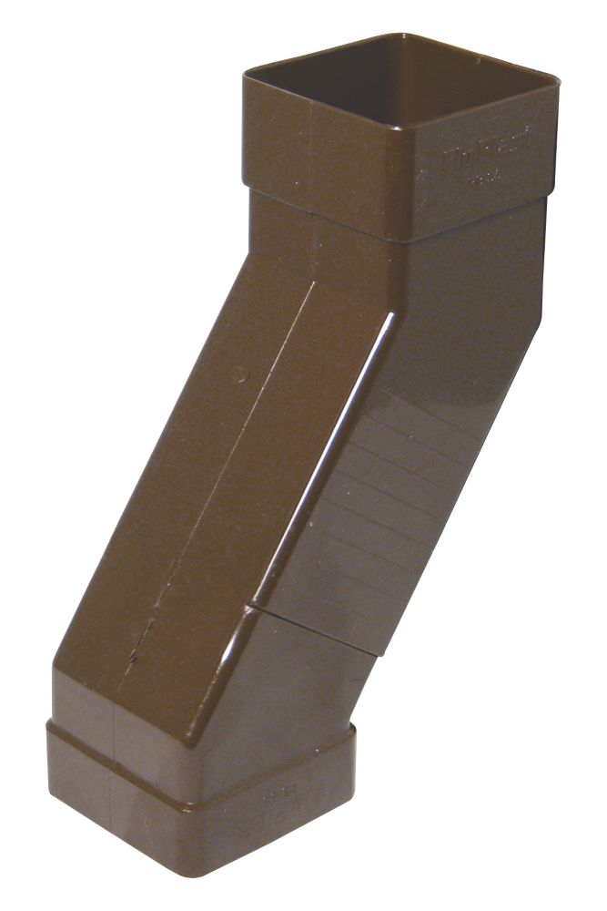 FloPlast Square  Adjustable Offset Bend 65mm Brown