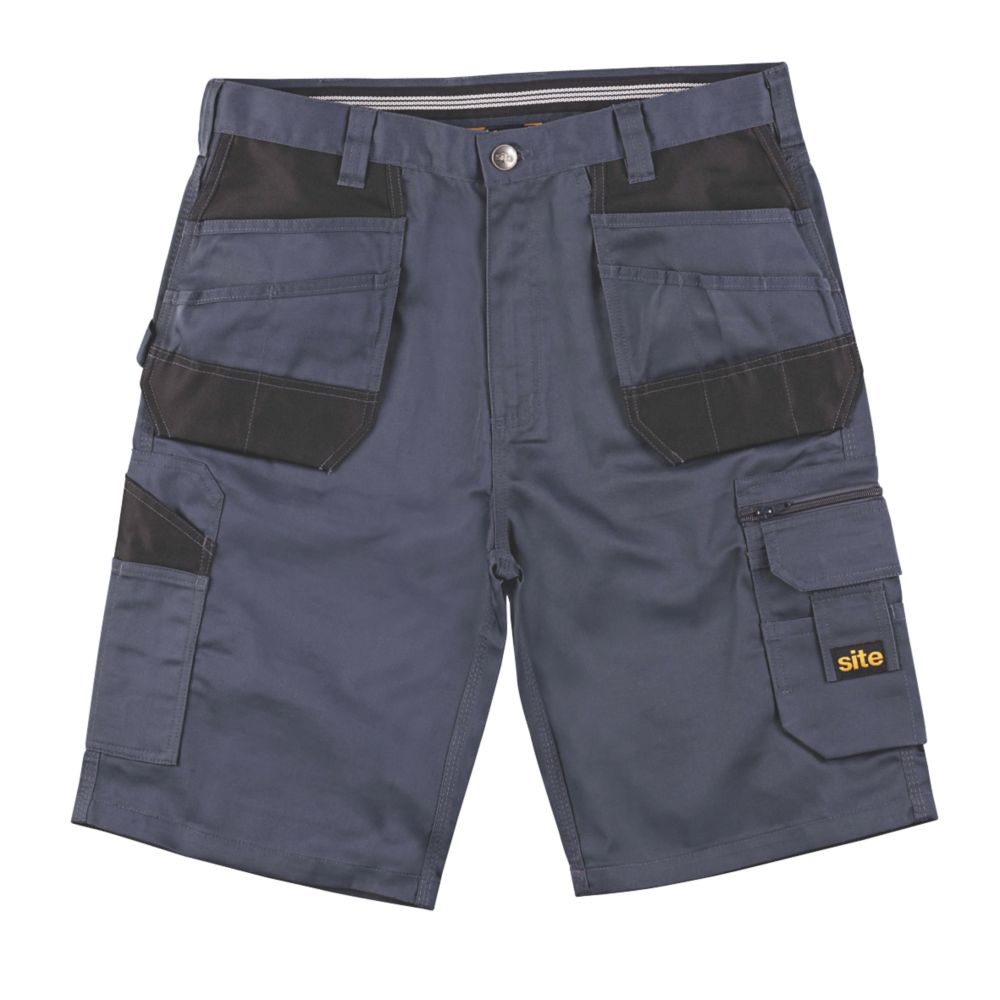 "Site Jackal Multi-Pocket Shorts Grey / Black 36"" W"