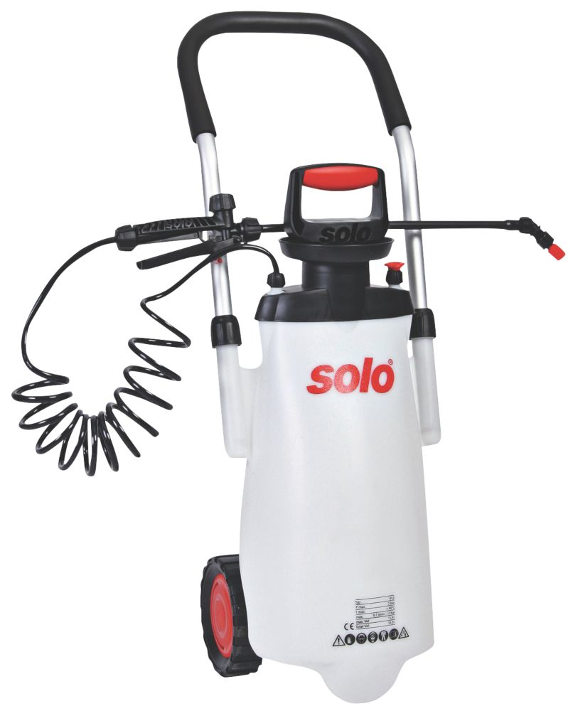 Solo SO453 Transparent Wheeled Trolley Sprayer 11Ltr