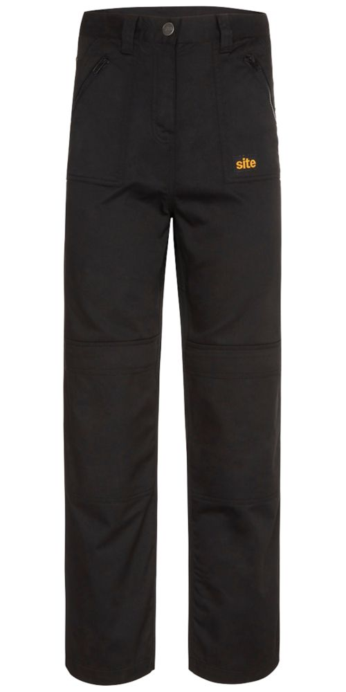 "Site Beagle Ladies Trousers Black Size 18 32"" L"
