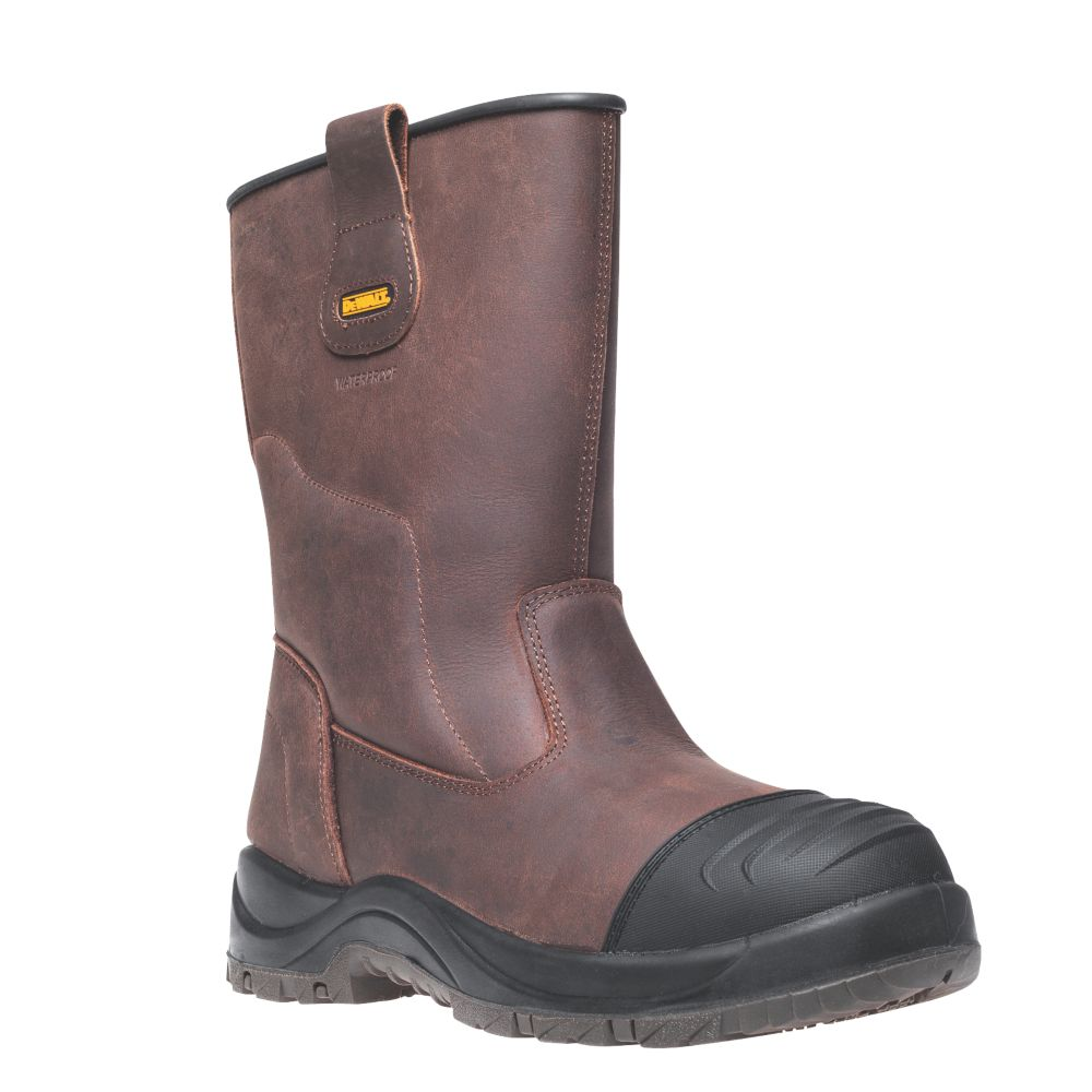 DeWalt Fullerton   Safety Rigger Boots Brown Size 7