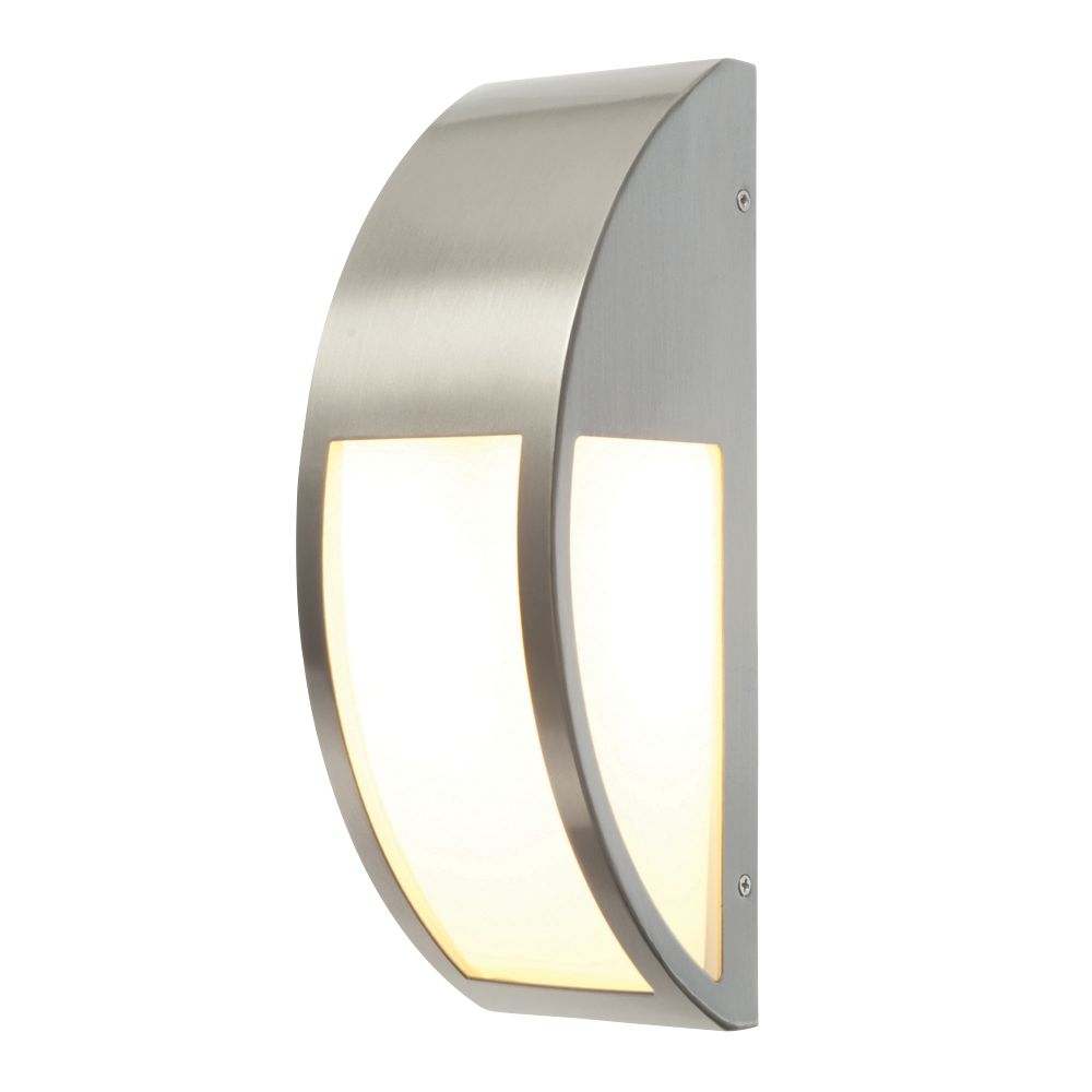 Convex Brushed S/Steel Wall Light 40W