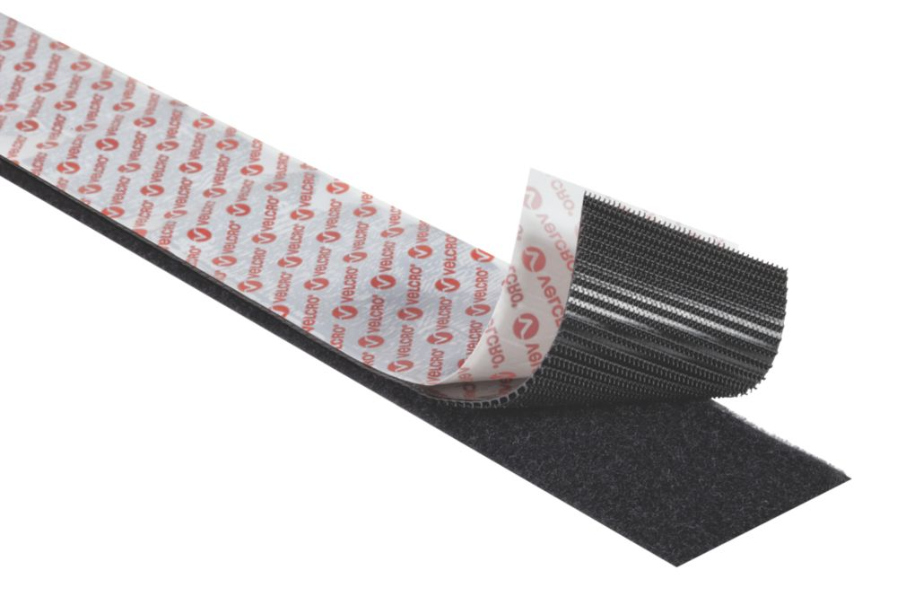 Velcro Brand  Black Heavy Duty Stick-On Tape 1 x 50mm
