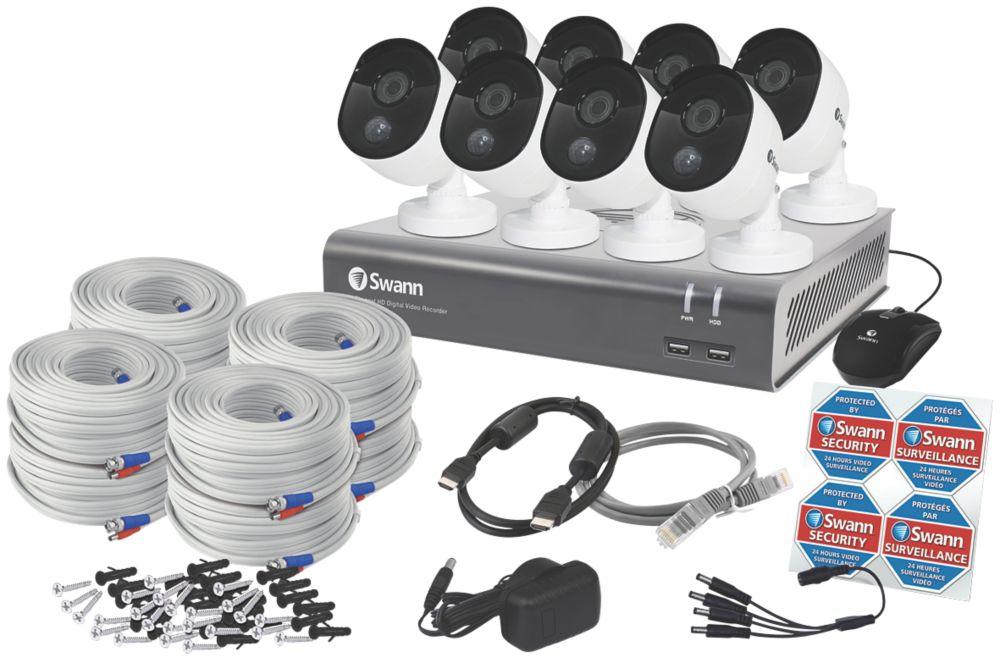 Swann SODVK-845808-UK 8-Channel Wired CCTV Kit & 8 Cameras