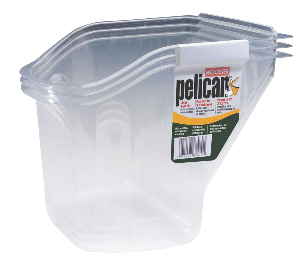 Wooster Pelican Hand-Held Paint Scuttle Inserts 0.95Ltr 3 Pack