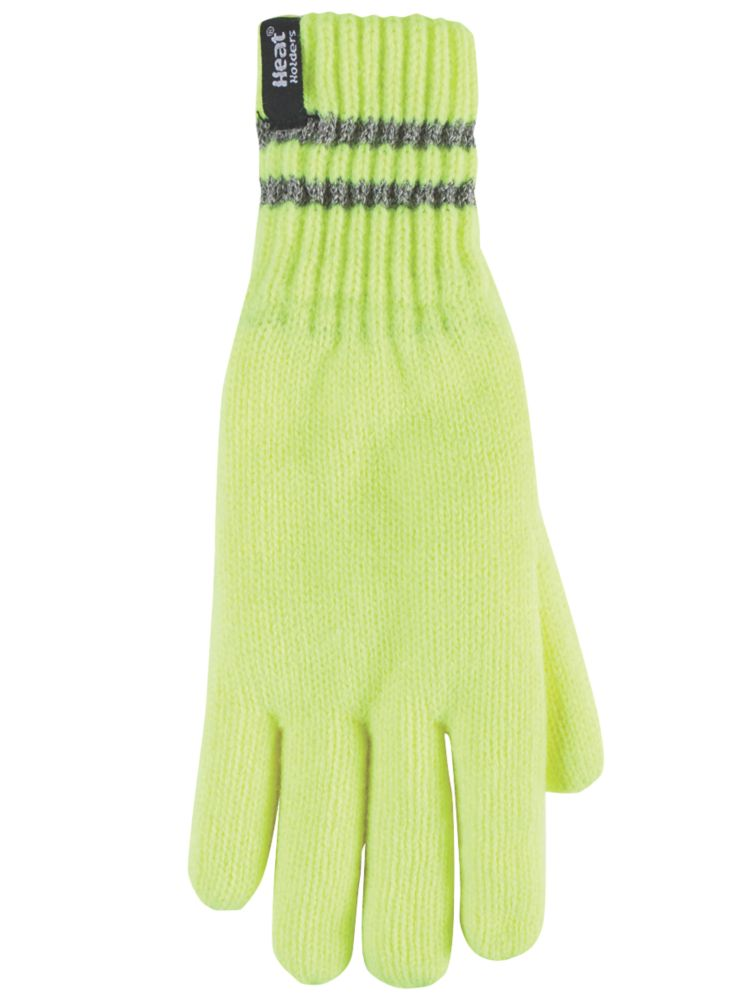 SockShop Heat Holders Thermal Gloves Yellow Large / X Large