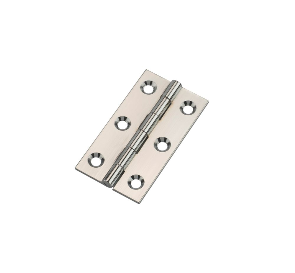 Polished Chrome Butt Hinges 52 x 29mm 2 Pack