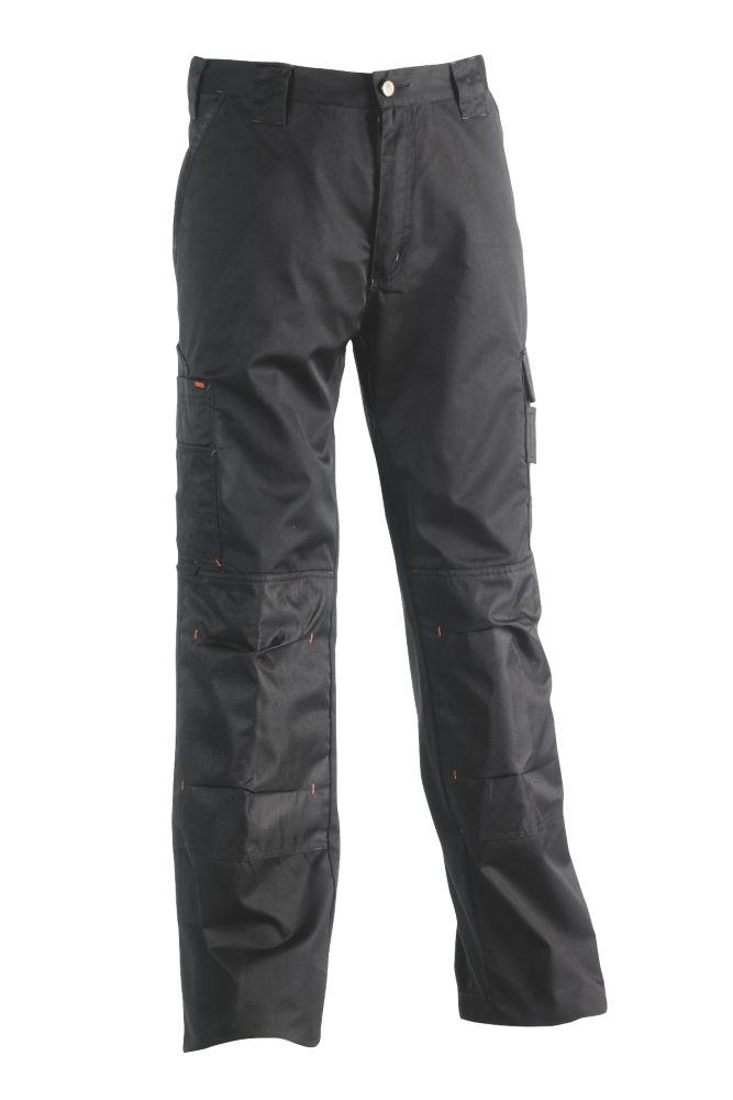 """Herock Mars Work Trousers Black 38"""" W 31"""" L"""