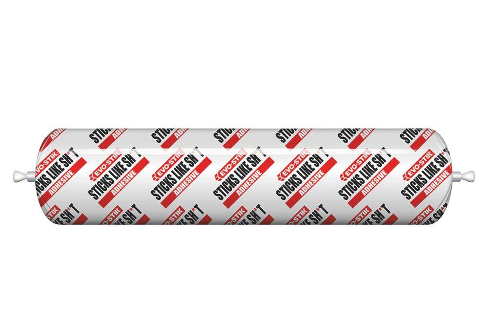 Evo-Stik 'Sticks Like Sh*t' Solvent-Free Grab Adhesive White 400ml