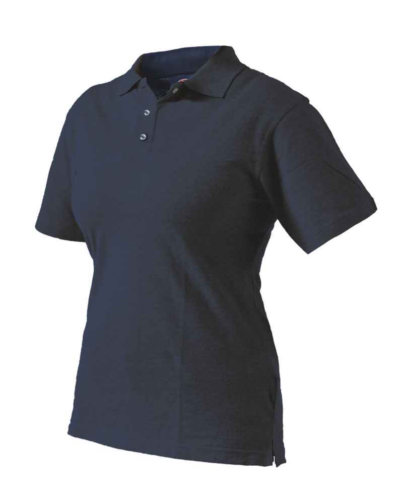 Dickies SH21600 Ladies Fitted Polo Shirt Navy Blue Size 8-10