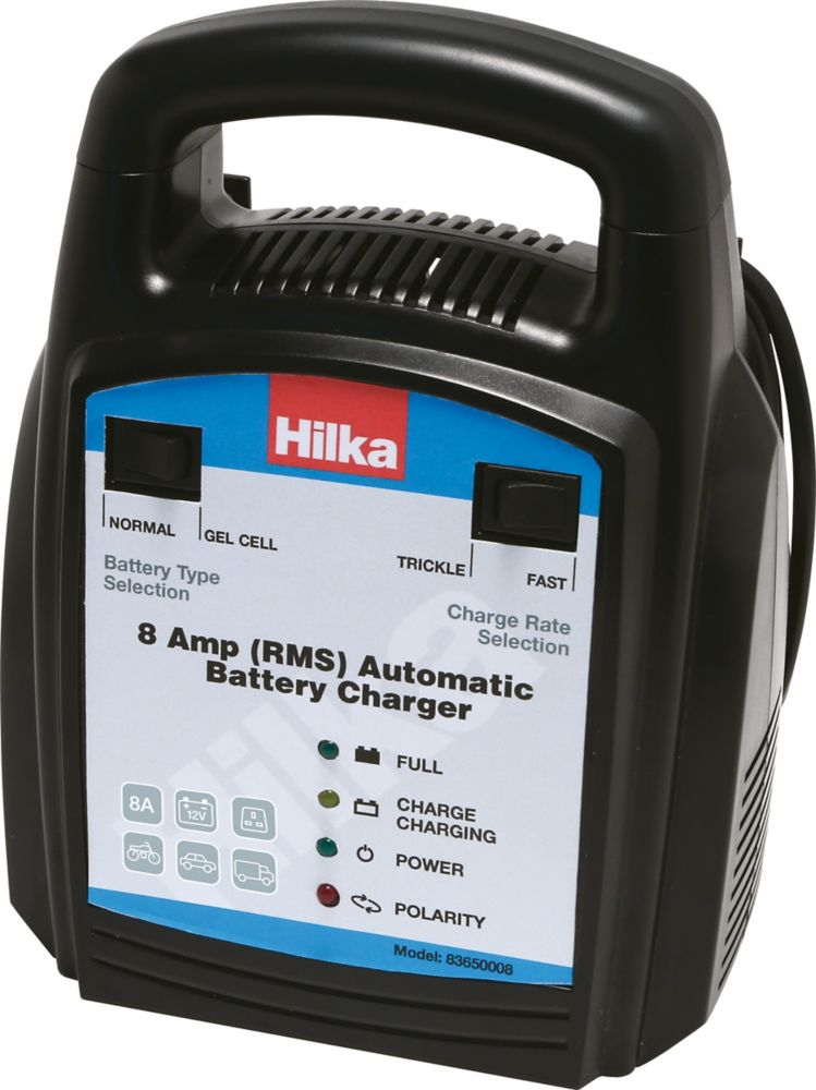 Hilka Pro-Craft 83650008 8A Automatic Battery Charger 12V